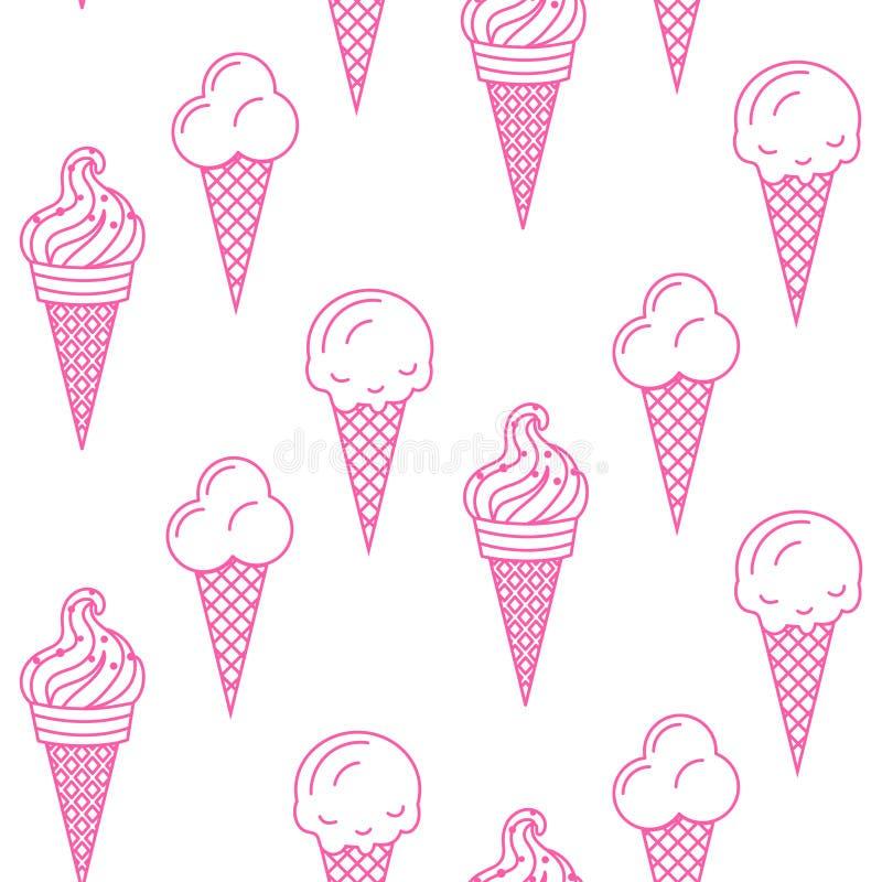 Teste padrão sem emenda do vetor do gelado Coleção do verão ilustração royalty free