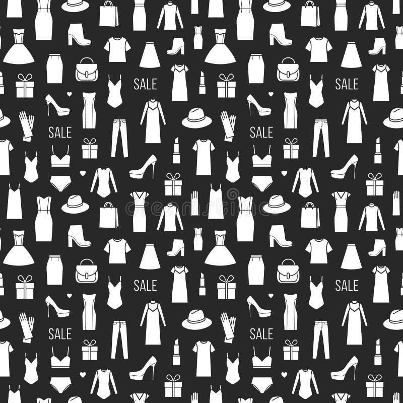 Teste padrão sem emenda do vetor do ladieswear da forma ilustração stock