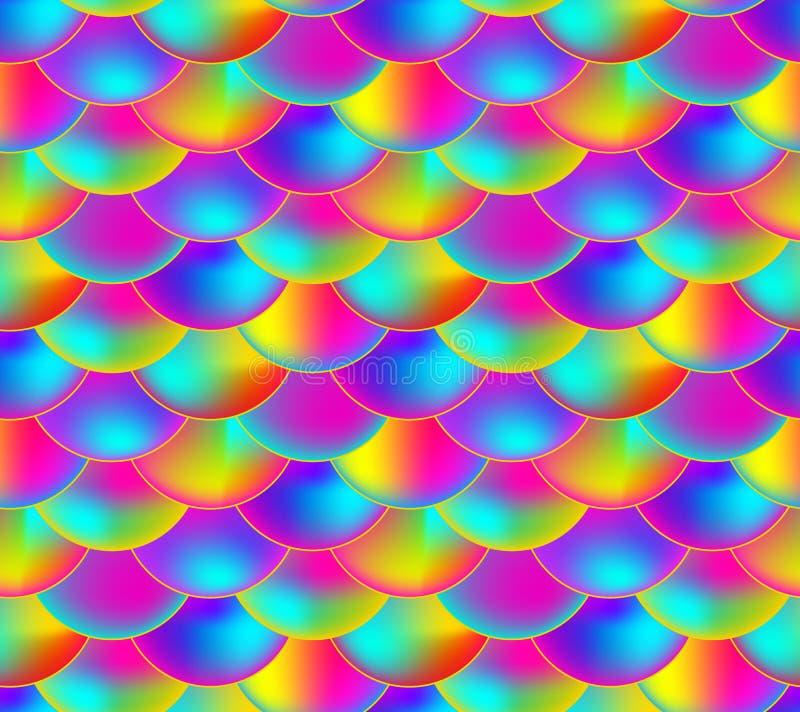Teste padrão sem emenda do vetor, escala colorida do arco-íris, fundo infinito colorido ilustração do vetor