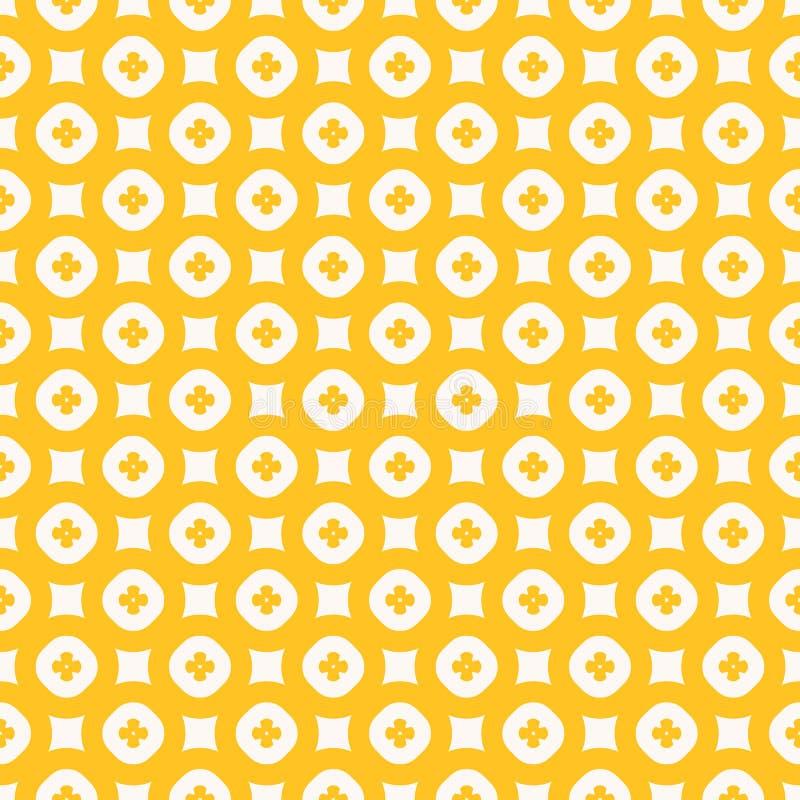 Teste padr?o sem emenda do vetor floral amarelo Textura geom?trica abstrata simples ilustração stock