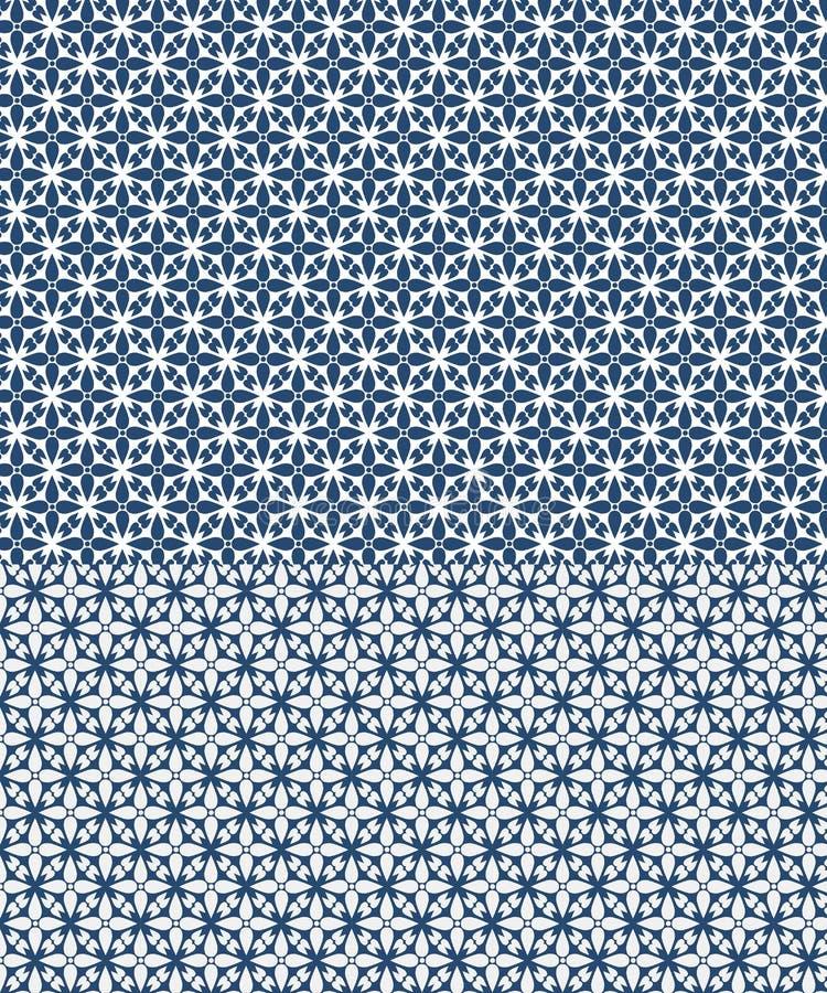 Teste padr?o sem emenda do vetor floral inspirado por azulejos ilustração do vetor