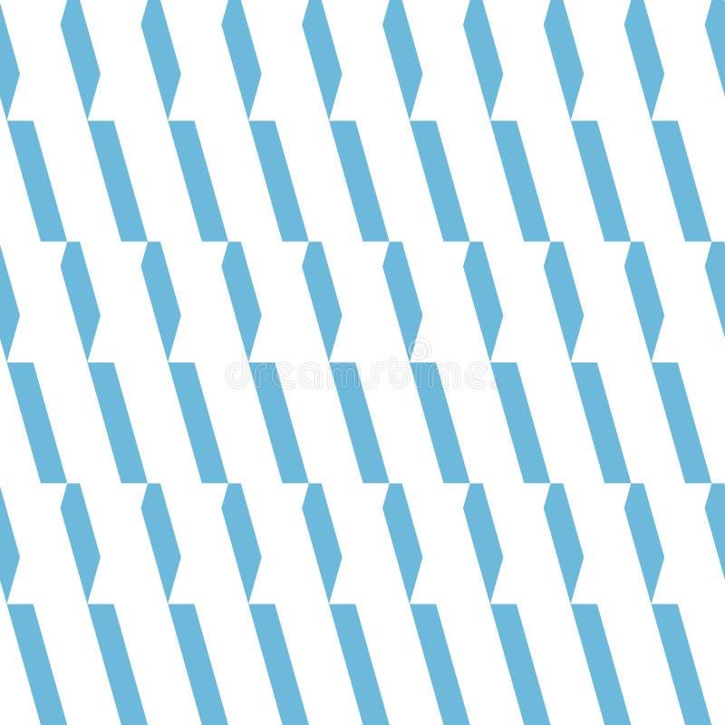 Teste padrão sem emenda do vetor Fundo azul e branco da luz monocromática - do ornamento imagem de stock royalty free