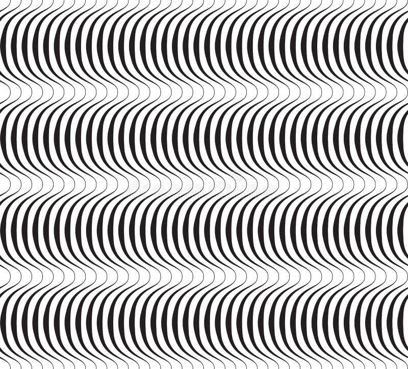 Teste padrão sem emenda do vetor geométrico abstrato preto e branco. ilustração royalty free