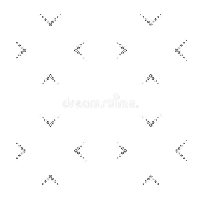 Teste padrão sem emenda do vetor geométrico com linhas pontilhadas abstraia o fundo Ilustração preto e branco gráfica ilustração do vetor