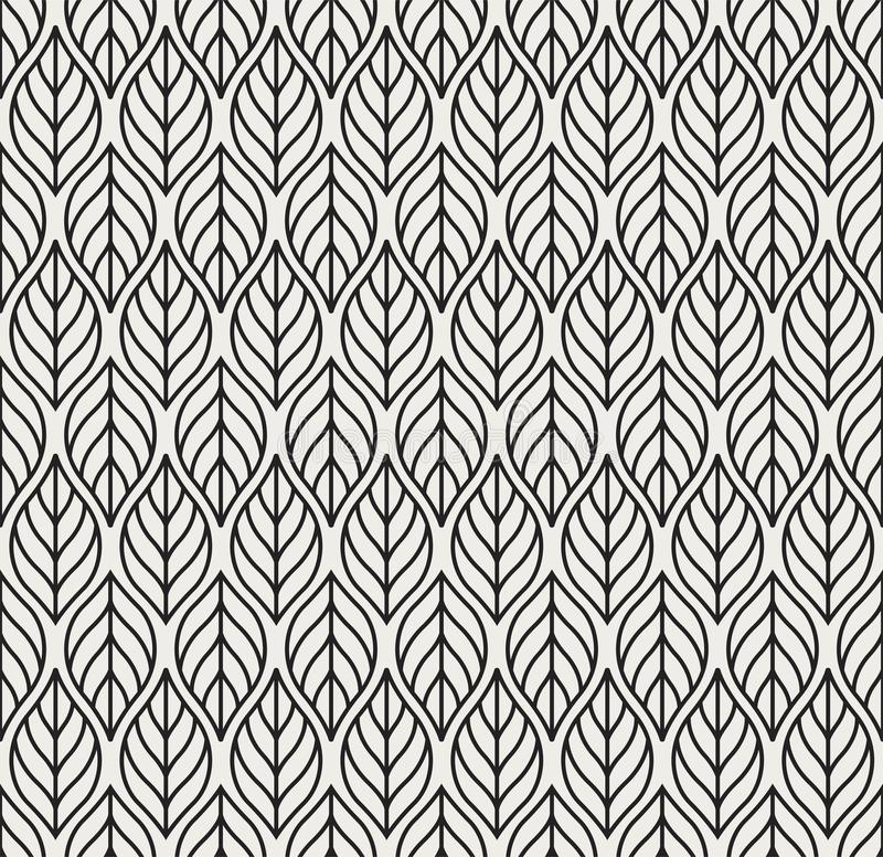 Teste padrão sem emenda do vetor geométrico das folhas Textura abstrata do vetor Fundo da folha ilustração do vetor
