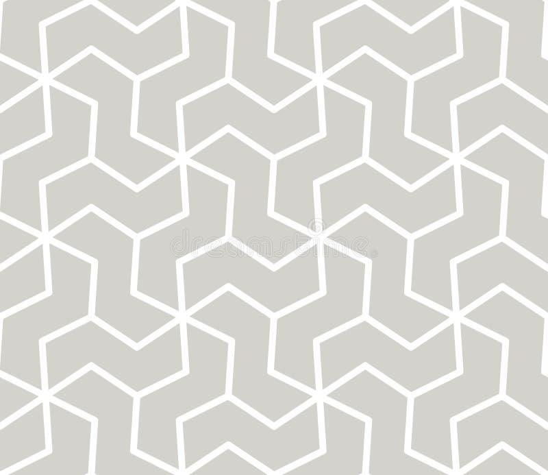 Teste padrão sem emenda do vetor geométrico simples do sumário com linha branca textura no fundo cinzento Claro - moderno cinzent ilustração do vetor