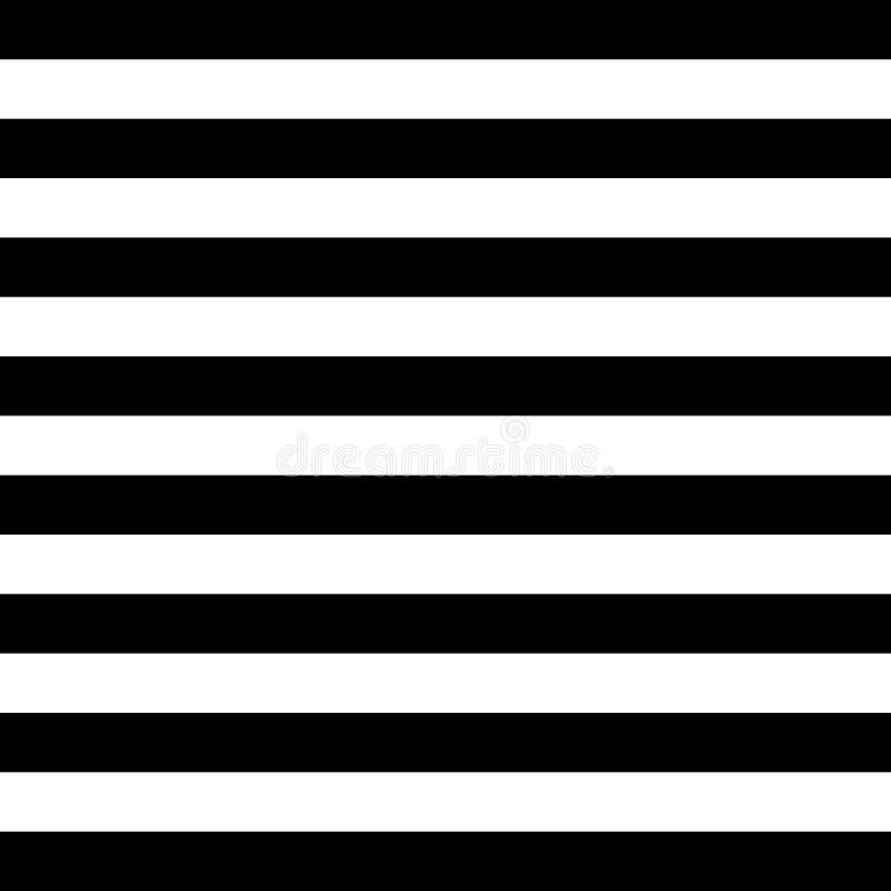 Teste padrão sem emenda do vetor horizontal das listras Teste padrão listrado, linhas horizontais Ilustração do vetor ilustração stock