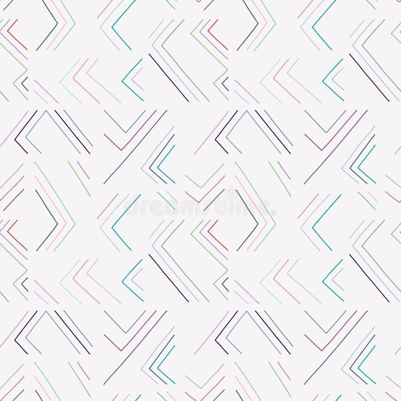 Teste padrão sem emenda do vetor A luz pastel azul textured o fundo geométrico com linhas Cópia para o papel de parede decorativo ilustração do vetor