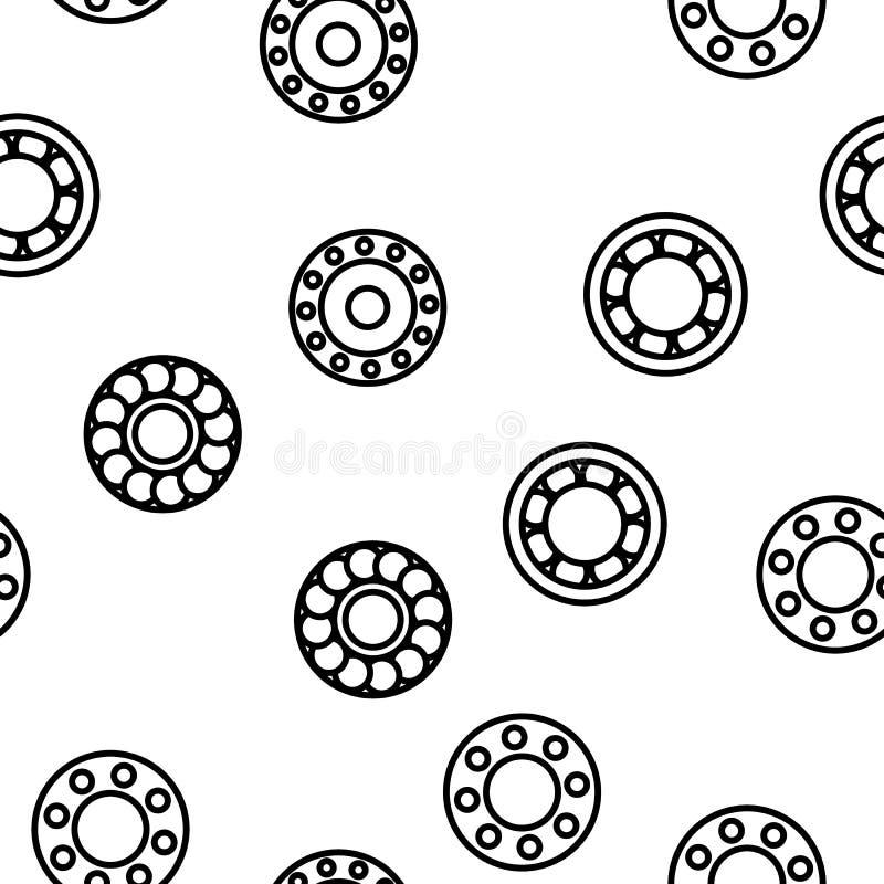 Teste padrão sem emenda do vetor do mecanismo do rolamento de esferas ilustração stock