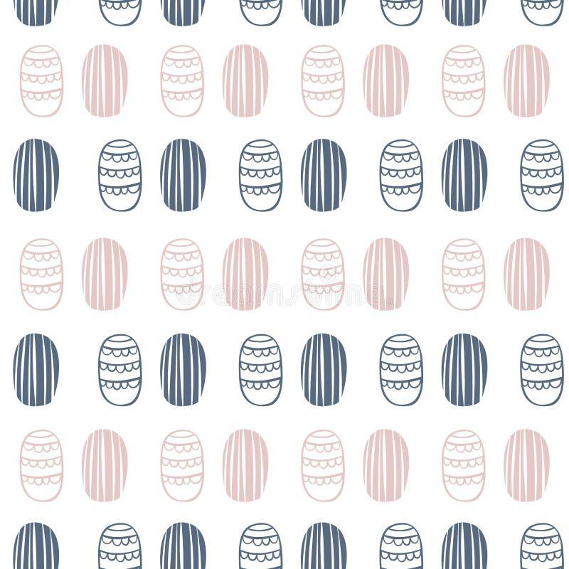 Teste padrão sem emenda do vetor no estilo escandinavo Formas abstratas minimalism Cópia dos desenhos animados, cartaz ilustração stock