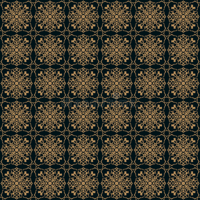 Teste padrão sem emenda do vetor no estilo vitoriano ilustração stock