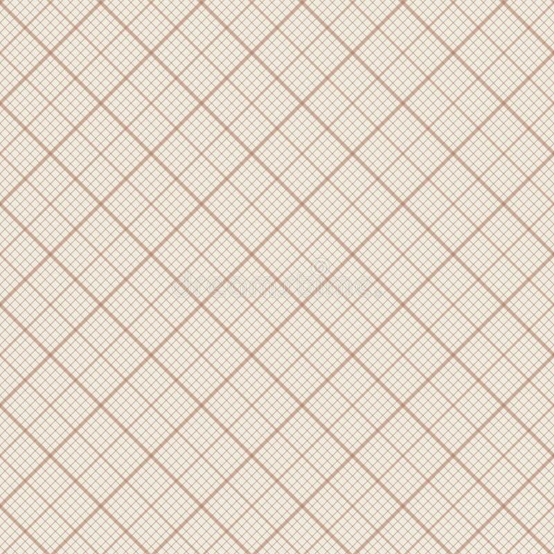 Teste padrão sem emenda do vetor - papel do milímetro ilustração royalty free