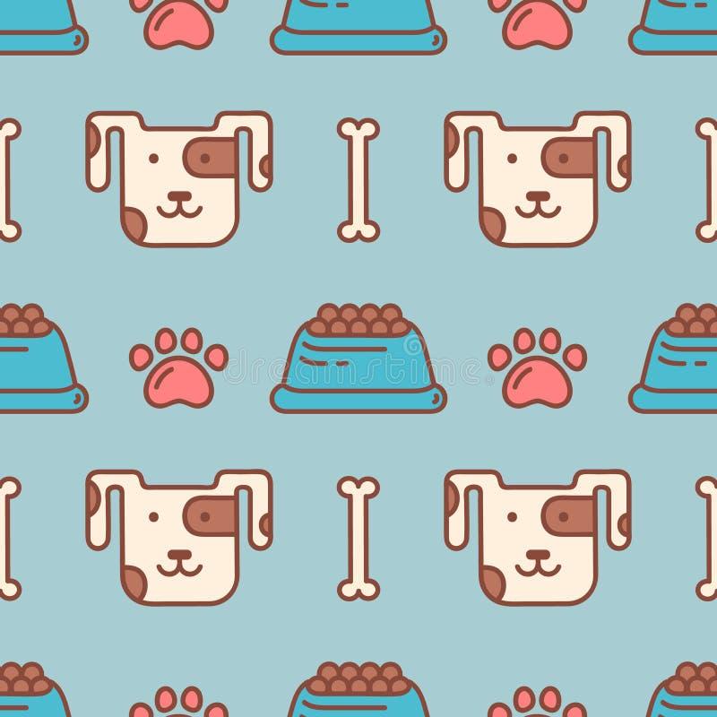 Teste padrão sem emenda do vetor para a loja de animais de estimação ilustração do vetor