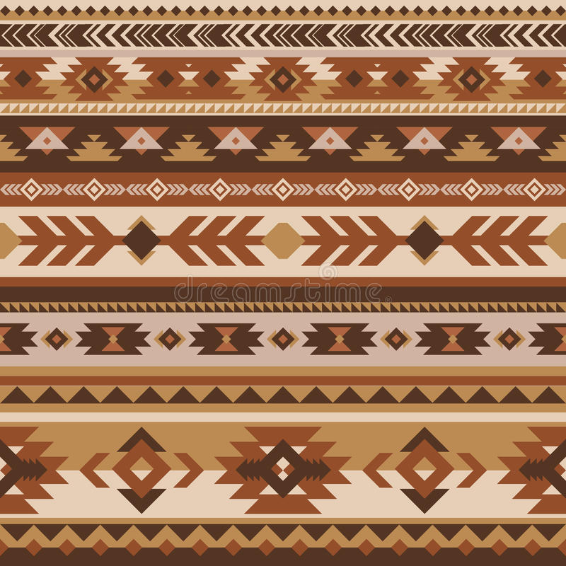 Teste padrão sem emenda do vetor tribal Asteca geométrico ilustração do vetor