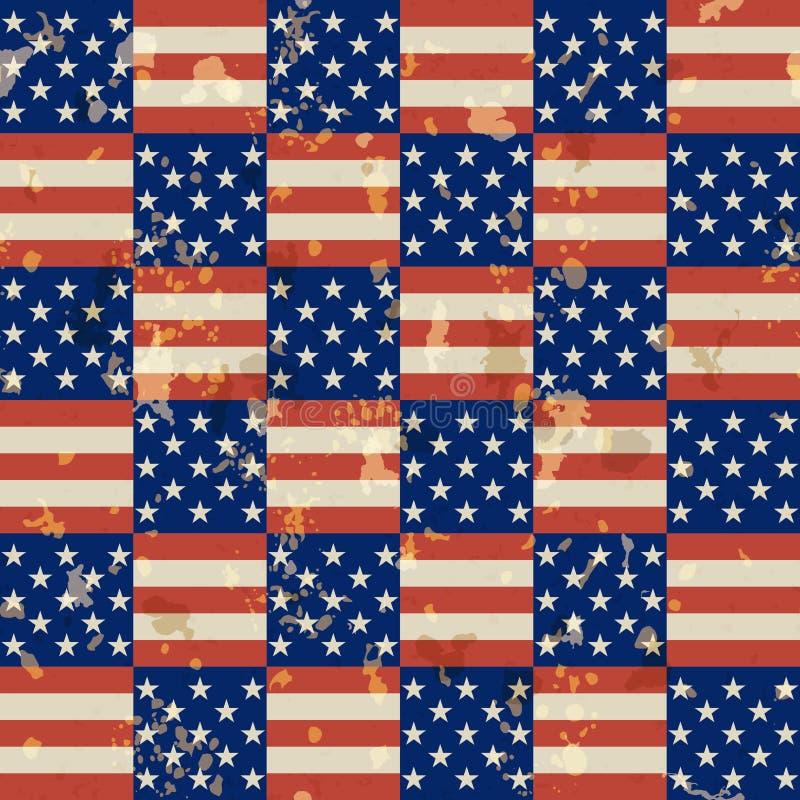 Teste padrão sem emenda do vintage americano ilustração royalty free