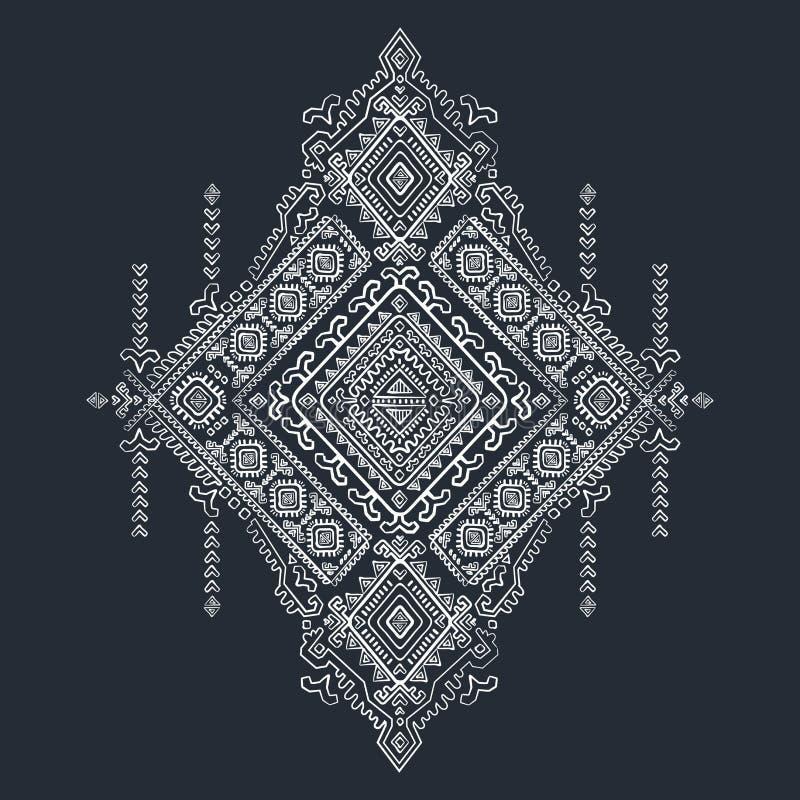 Teste padrão sem emenda do vintage asteca tribal ilustração do vetor