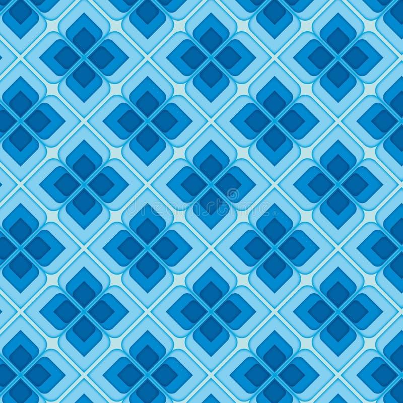 Teste padrão sem emenda do vintage azul ilustração do vetor
