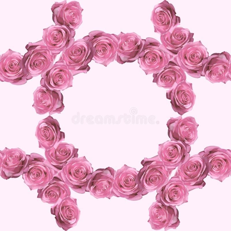 Teste padrão sem emenda do vintage bonito com rosas fotos de stock