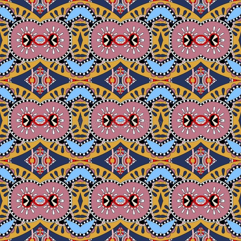 Teste padrão sem emenda do vintage da geometria, estilo étnico ilustração do vetor
