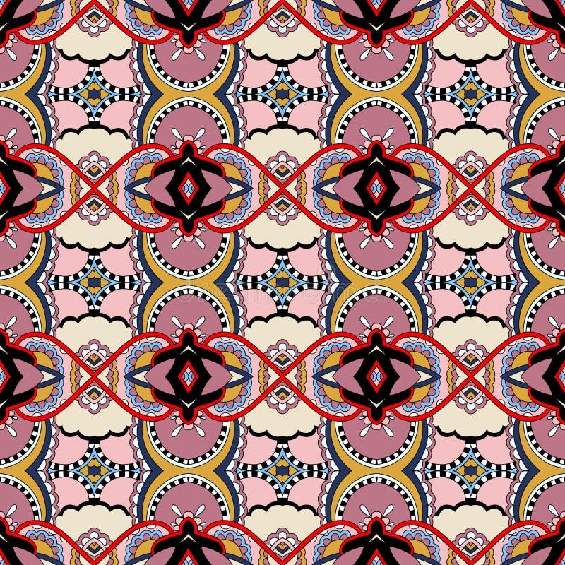 Teste padrão sem emenda do vintage da geometria, estilo étnico ilustração stock