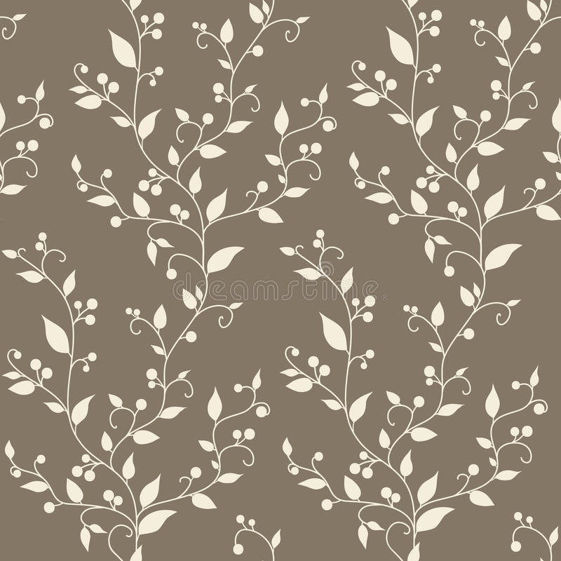 Teste padrão sem emenda do vintage floral do vetor ilustração royalty free