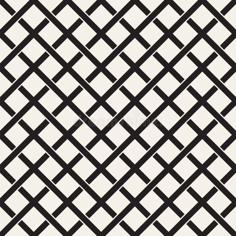 Teste padrão sem emenda do Weave Fundo da trança da estrutura de cruzamento das listras Vetor geométrico ilustração royalty free