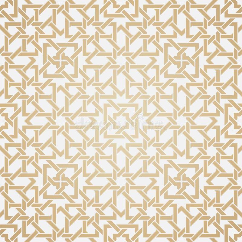 Teste padrão sem emenda do weave no estilo oriental ilustração do vetor