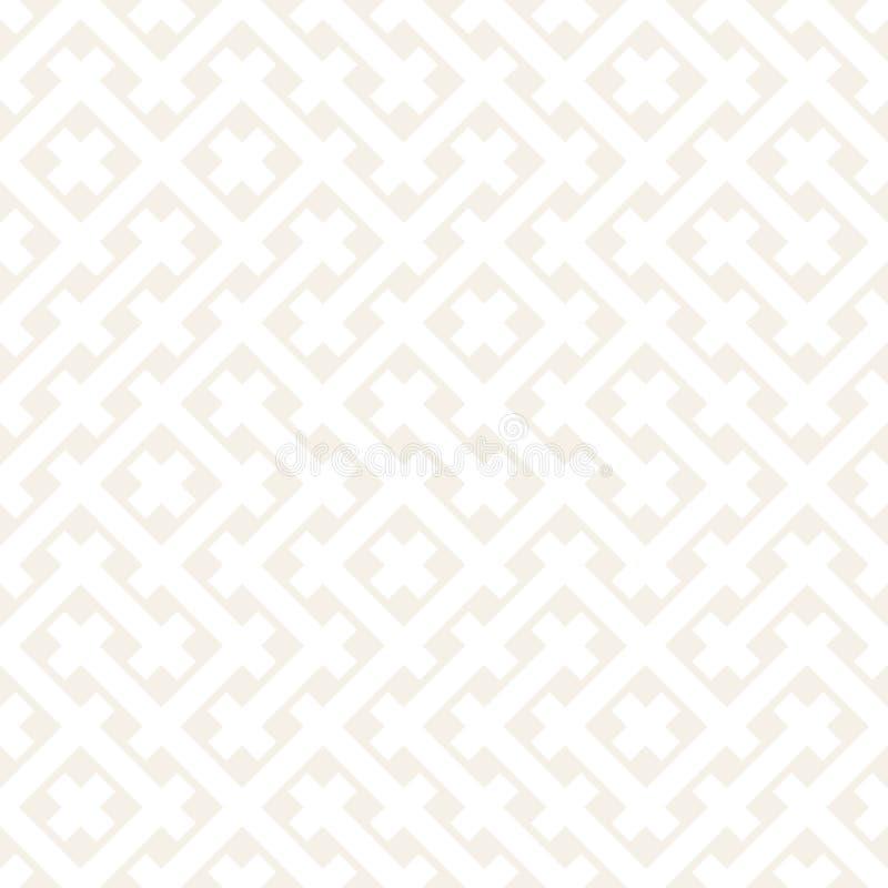 Teste padrão sem emenda do Weave Textura de repetição à moda Ilustração geométrica preto e branco do vetor ilustração do vetor