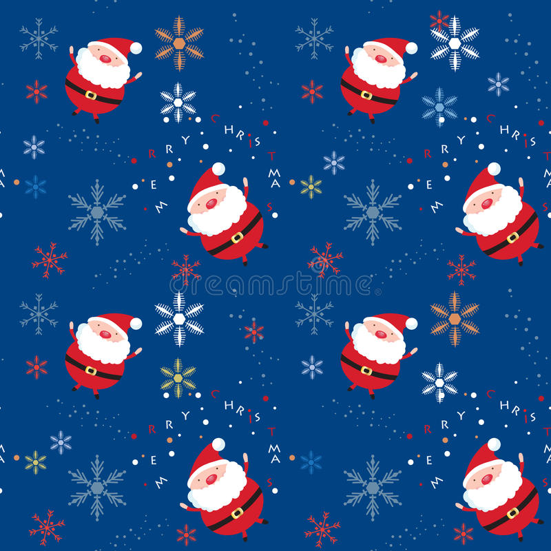 Download Teste Padrão Sem Emenda Do Xmas Com Santa E Flocos De Neve Ilustração Stock - Ilustração de ouro, desenho: 16860348