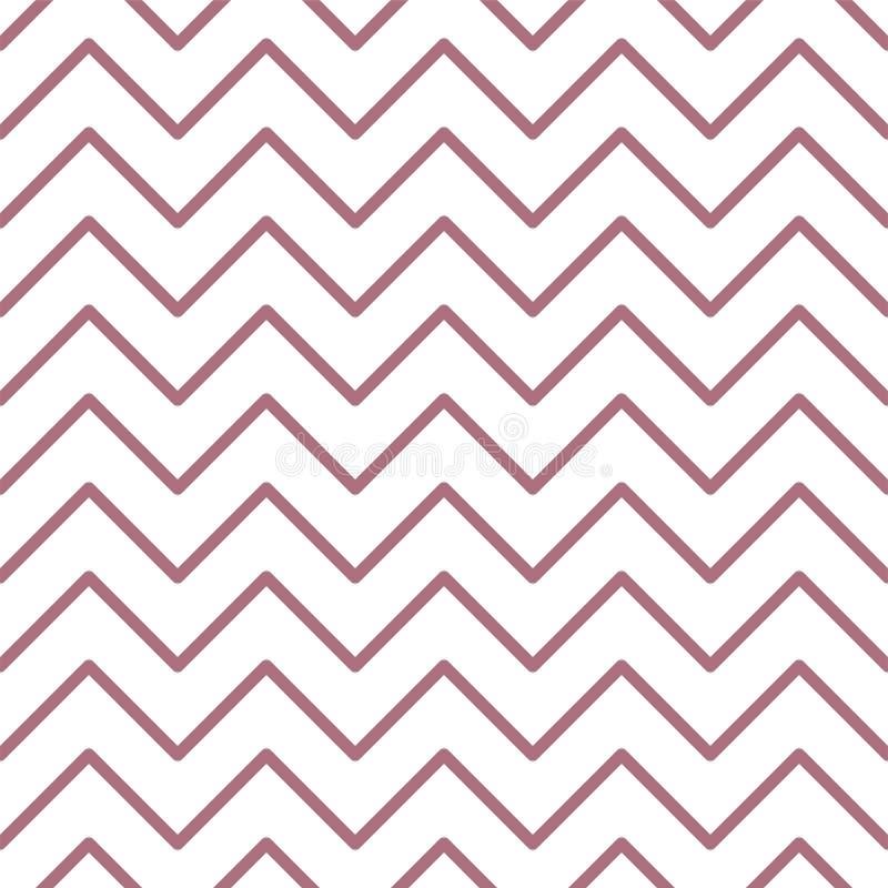 Teste padrão sem emenda do ziguezague Cópia geométrica abstrata do projeto da forma Papel de parede monocromático ilustração do vetor