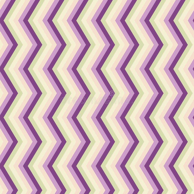 Teste padrão sem emenda do ziguezague doce do lila ilustração do vetor