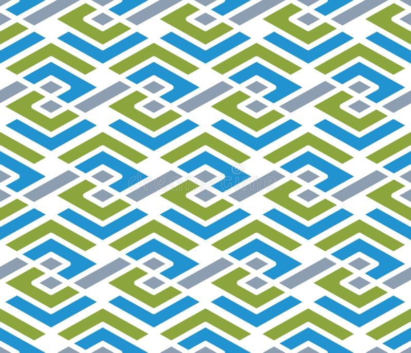 Teste padrão sem emenda do ziguezague geométrico colorido, VE infinita simétrica ilustração stock