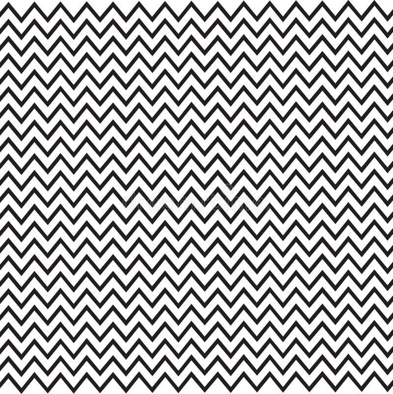 Teste padrão sem emenda do ziguezague, imagem minimalistic do vetor ilustração stock