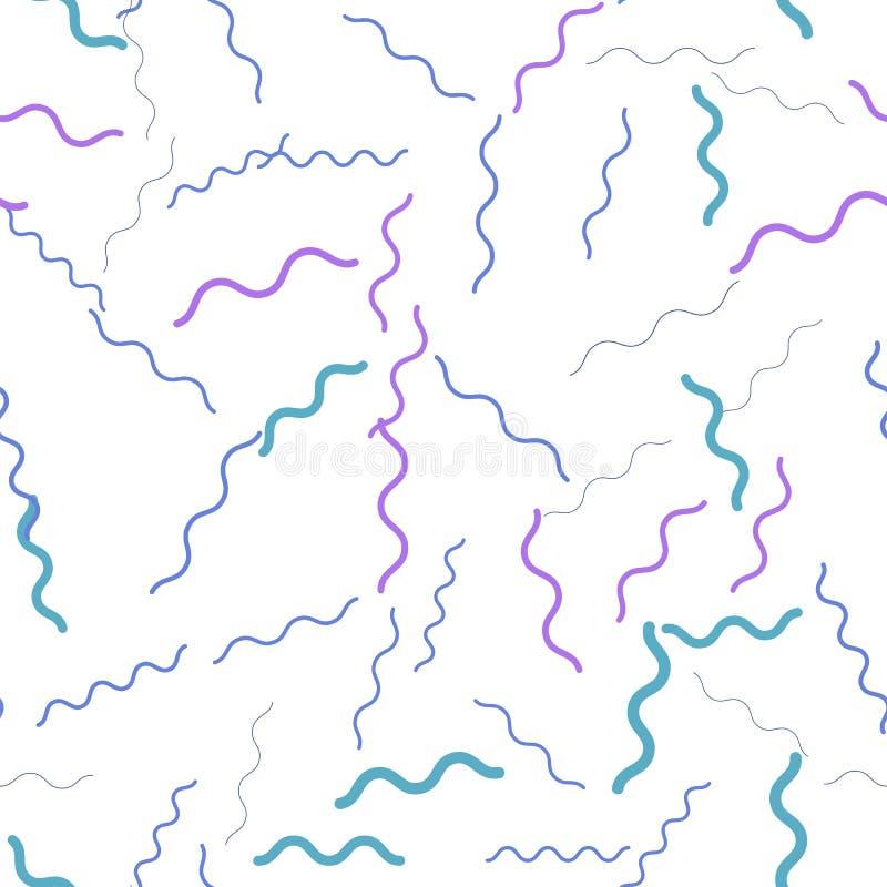 Teste padrão sem emenda do ziguezague liso Linhas onduladas fundo abstrato Ilustração do vetor ilustração do vetor