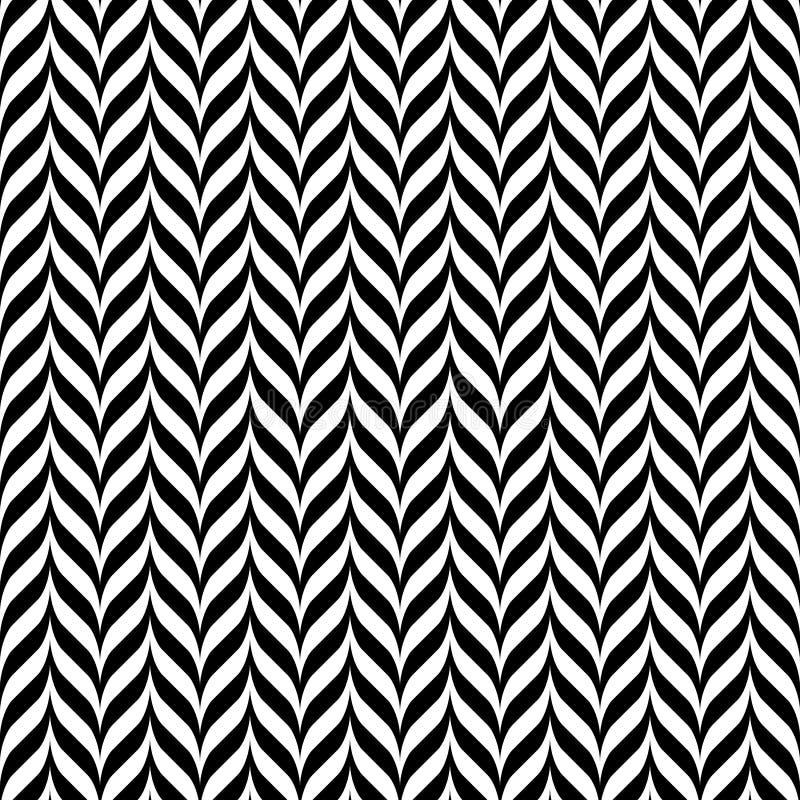 Teste padrão sem emenda do ziguezague preto e branco do vintage ilustração royalty free