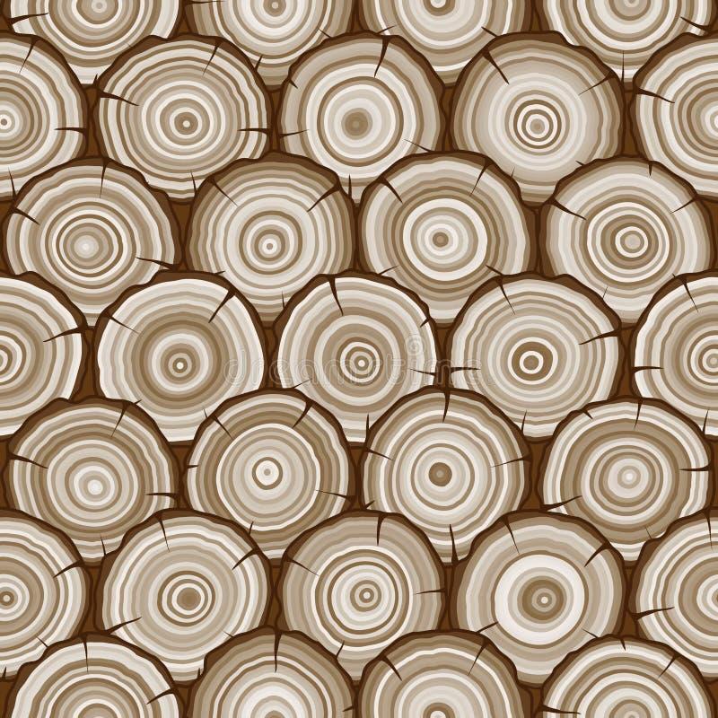 Teste padrão sem emenda dos anéis de árvore ilustração stock