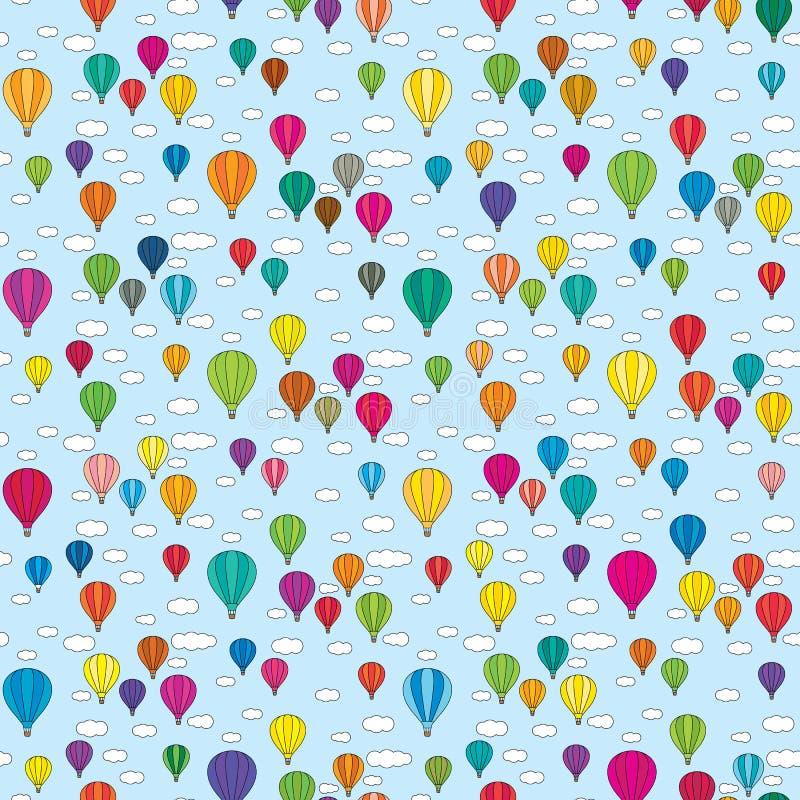 Teste padrão sem emenda dos balões ilustração stock