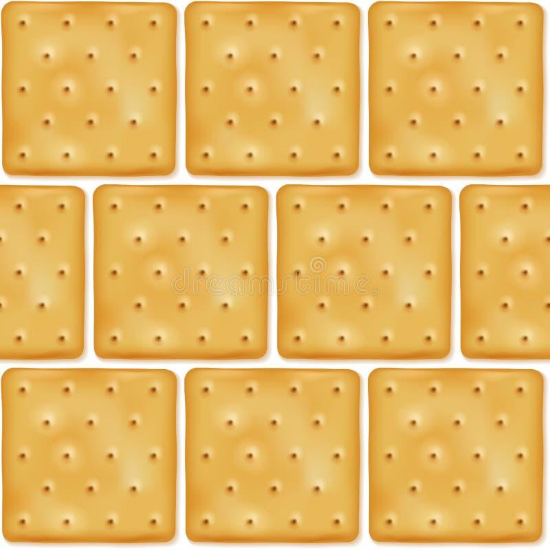 Teste padrão sem emenda dos biscoitos quadrados das cookies ilustração do vetor