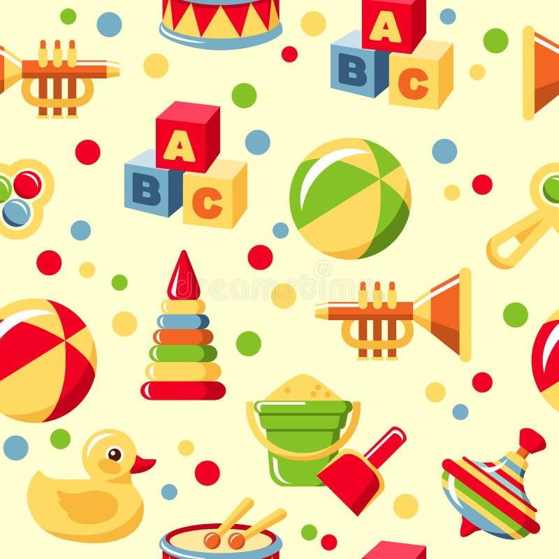 Teste padrão sem emenda dos brinquedos ilustração royalty free