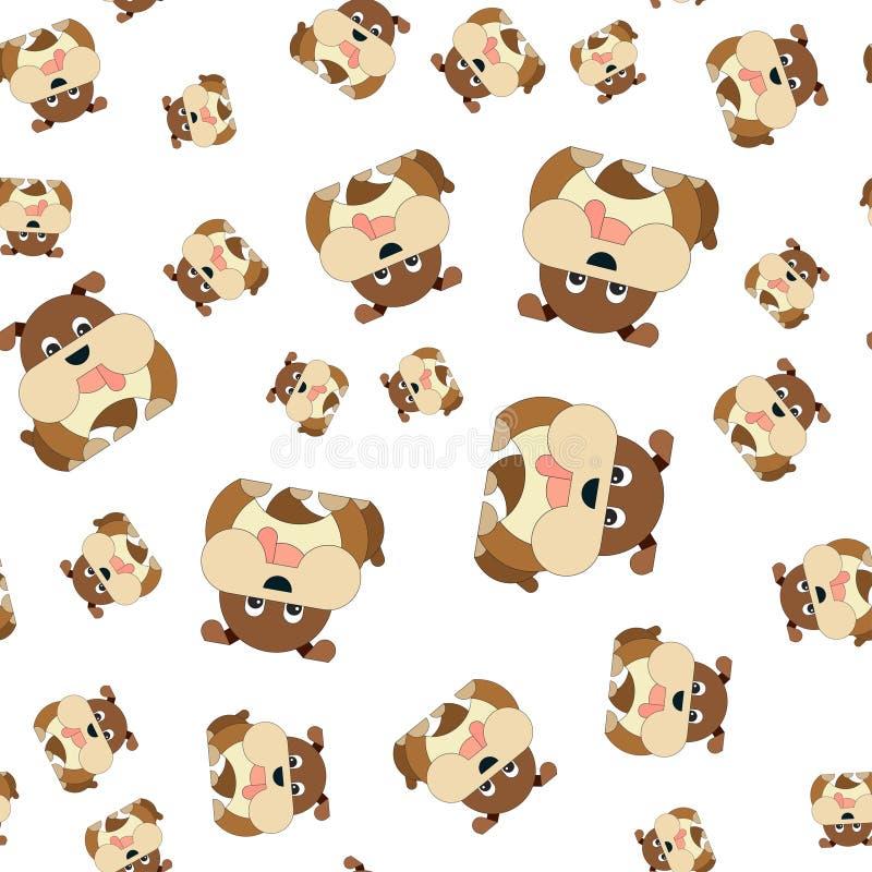 Teste padrão sem emenda dos cães ilustração royalty free