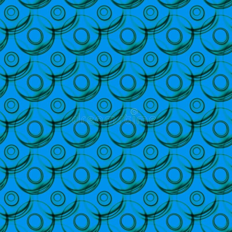 Teste padrão sem emenda dos círculos das bolas da água ilustração stock