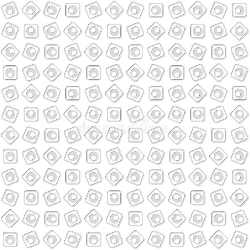 Teste padrão sem emenda dos círculos e dos quadrados abstraia o fundo ilustração do vetor