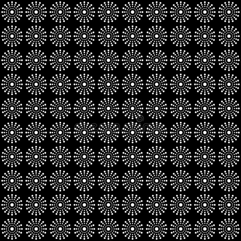Teste padrão sem emenda dos círculos e dos pontos Fundo geométrico foto de stock royalty free