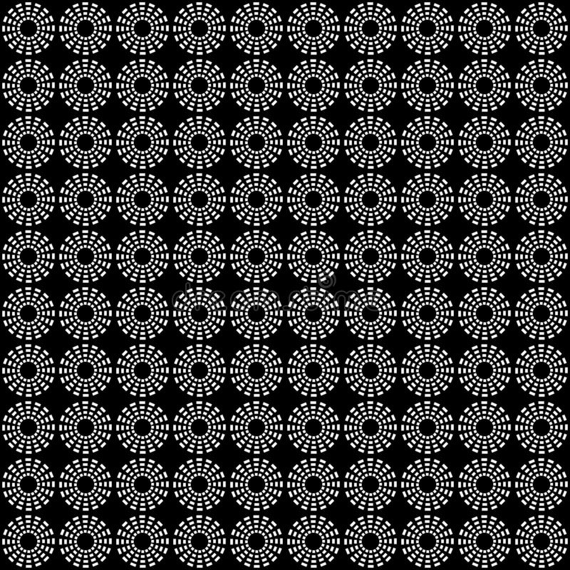 Teste padrão sem emenda dos círculos Fundo geométrico fotografia de stock