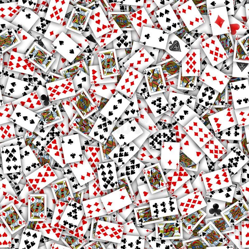 Teste padrão sem emenda dos cartões de jogo fotos de stock royalty free