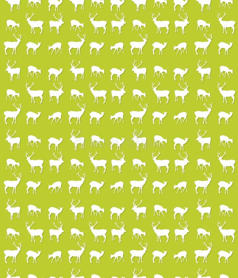 Teste padrão sem emenda dos cervos ilustração stock