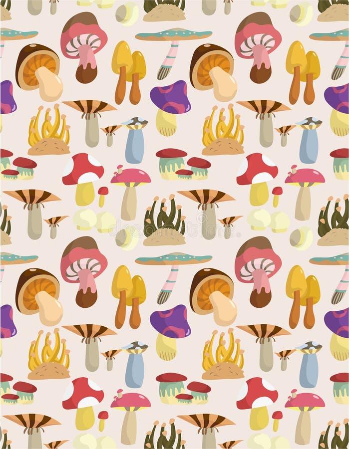 Teste padrão sem emenda dos cogumelos ilustração royalty free