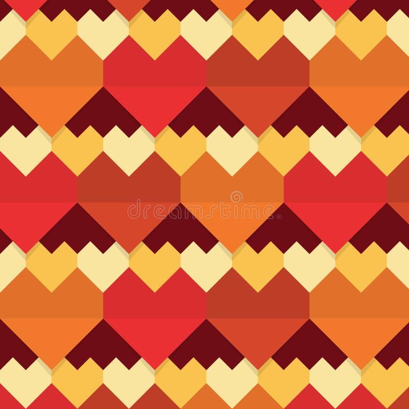 Teste padrão sem emenda dos corações abstratos geométricos ilustração do vetor