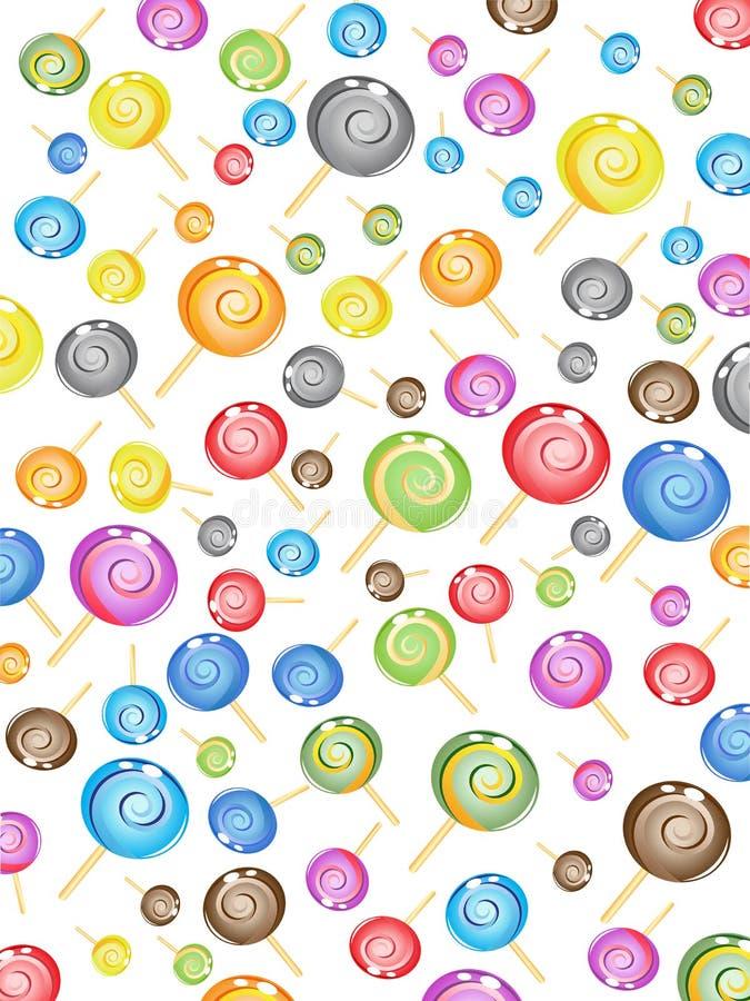 Teste padrão sem emenda dos doces ilustração do vetor
