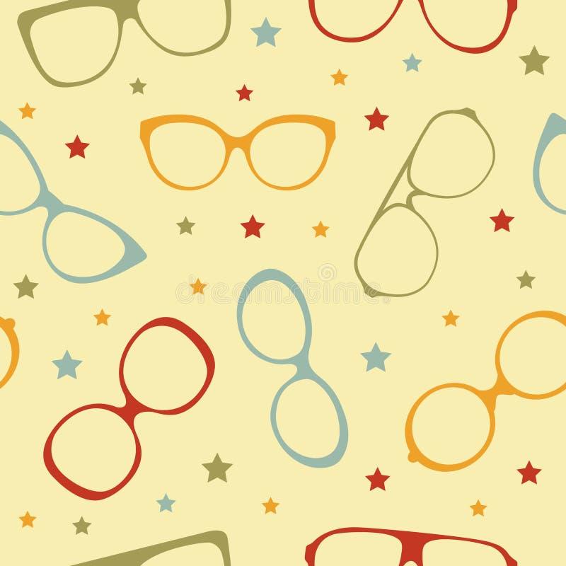 Teste padrão sem emenda dos Eyeglasses ilustração do vetor